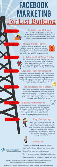 Discover how to use #Facebook to build your lists - #socialmedia #Infographics