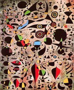 Woman Encircled by the Flight of a Bird - Joan Miro