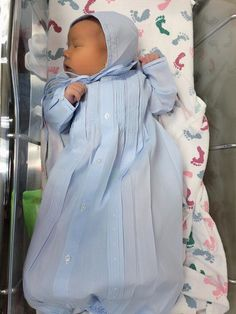 """""""A brand new little baby boy, to fill our hearts and lives with joy"""" Beautiful Callan Alexander is headed home in his Feltman Brothers Take Me Home Gown and Bonnet!  http://feltmanbrothers.com/take-me-home-gown-and-hat/"""