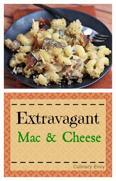 Extravagant Mac and Cheese is the Ultimate homemade creamy, rich, buttery and decadent indulgence. Must try for Date Night!