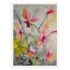 Paintings | One Kings Lane-Karin Johannesson, Orchidacea- $85