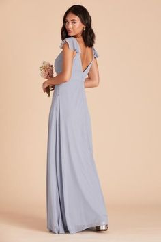 Light blue bridesmaid Dresses For $150 or less. A blue bridesmaid dress from Birdy Grey. Light Blue Bridesmaid Dresses, Bridesmaid Dresses Under 100, Affordable Bridesmaid Dresses, Blue Bridesmaids, Dusty Blue Dress, Modern Groom, Blue Maxi, Dress For You, Dress Collection