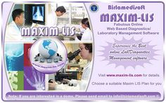Maxim LIS is complete web based Laboratory Management Software. All types of Pathology & Radiology reporting is possible. Maxim LIS comes with Billing, Inventory and Accounting management inbuilt in the software. Us Web, Corporate Presentation, Radiology, Clinic, Health Care, Management, Software Online, Medical, How To Plan