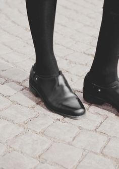 Leather and canvas flats | Black | & Other Stories