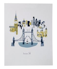 Take a look at this London City Print by albie designs on #zulily today! @Deanna McClure Gah!