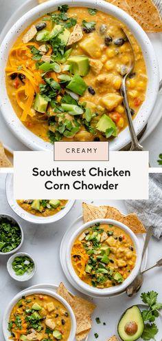 Chowder Recipes, Soup Recipes, Chicken Recipes, Healthy Recipes, Healthy Soups, Eat Healthy, Healthy Habits, Chicken Corn Chowder, Recipes