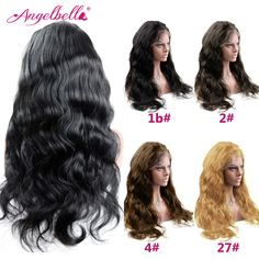 Angelbell Grade 6A Brazilian Body Wave Lace Front Wig with Baby hair