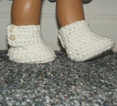 Button Boots 1 crocheted American Girl