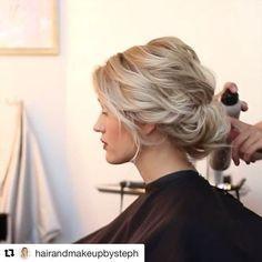 Pretty updo for brides with short hair #beachstylesforshorthair