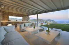Luxury Mykonos Villa With Contemporary Mediterranean Decor Beautiful Villas, Beautiful Homes, 3d Home Architect, Mykonos Villas, Luxury Portfolio, Tiny Apartments, Mediterranean Decor, House And Home Magazine, Luxury Villa