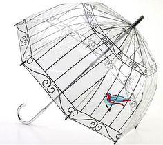 Bird cage umbrella.