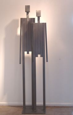 WE - Large Couple; stainless steel; Edition of 99 #markwhite #markwhitefineart #mwfa #fineart #gallery #sculpture #we #people #99% #editionof99 #men #women #children #stainlesssteel #patina #steelgray #patinedstainlesssteel #handmade #santafe #newmexico #canyonroad #artist #sculptor