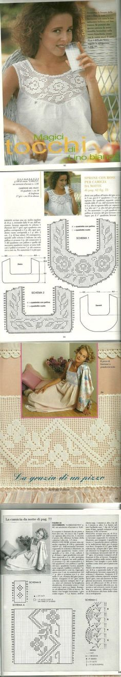 Captivating Crochet a Bodycon Dress Top Ideas. Dazzling Crochet a Bodycon Dress Top Ideas. Filet Crochet, Col Crochet, Crochet Collar, Crochet Diagram, Crochet Woman, Crochet Blouse, Crochet Chart, Thread Crochet, Irish Crochet