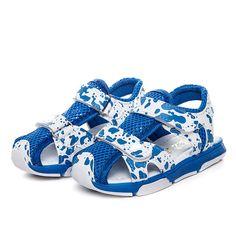 2015夏季运动半凉鞋  透气带灯童鞋 时尚沙滩鞋小童儿童凉鞋批发