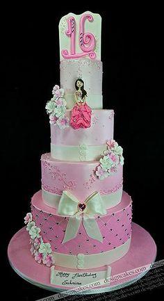 Sweet 15 Cakes | Sweet sixteen cake | Partayyy Ideas;)