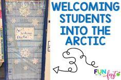 Arctic Adventure - Classroom Transformation - Fun in First Classroom Setting, Future Classroom, Classroom Themes, 2nd Grade Crafts, Survivor Theme, Arctic Habitat, Polar Animals, Animal Room, Monthly Themes