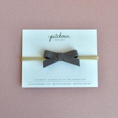 Paulette bow headband - (Lavender Grey)