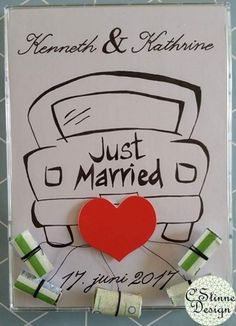 Bryllupsgave C & # stine Design - Melly Joe Just Married, Wraps, Gift Wrapping, Diy, Gifts, Design, Weddings, Creative, Crafting