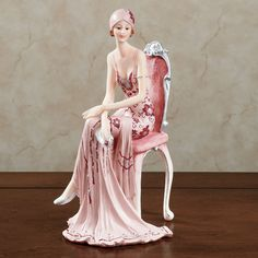 1920s Dameisele Pink Gown Lady Figurine