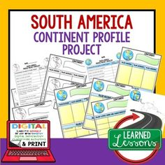 South America Project Activity Pages (Paper and Google Drive) World Geography