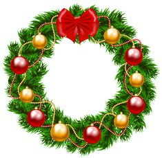 Christmas Wreath PNG Clipart Image