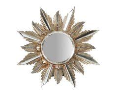 Зеркало - смола - золотой - 28x29x2,5 см | Westwing Интерьер & Дизайн