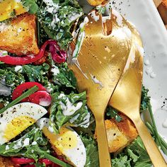 Kale Salad with Buttermilk Dressing and Pickled Onions | MyRecipes.com