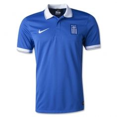 The new away kit has a reverse design with the blue jersey featuring a white polo collar and white cuffs on the sleeves, both with a thin blue stripe. Away shorts and socks are also blue. Soccer Gear, Soccer Uniforms, Soccer Jerseys, Fifa Online, World Cup Shirts, Cheap Football Shirts, Soccer Store
