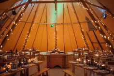 "2 Giant hat tipis at night all set for a ""special"" Birthday Celebration  Planner @CamillaMaryse.com Photography by /hellyfletcher/"