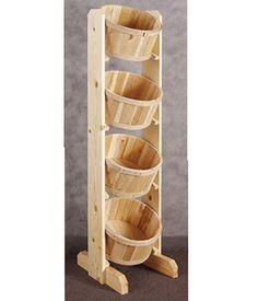"Four Basket Dump Bin Floor Stand 16""L x 14""W x 56""H"