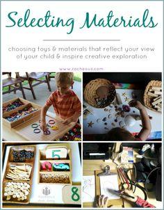 selecting materials for play Montessori Materials, Montessori Activities, Activities For Kids, Reggio Emilia Classroom, Reggio Inspired Classrooms, Preschool At Home, Preschool Classroom, Kindergarten, Preschool Ideas