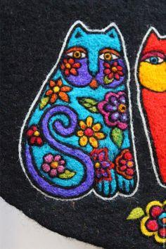 Создание рисунка на валяном клатче по мотивам творчества Лорел Берч - Ярмарка Мастеров - ручная работа, handmade