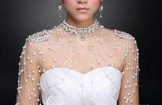 Pearl Shoulder Chain at Bling Brides Bouquet online Bridal Store #BlingBridesBouquet