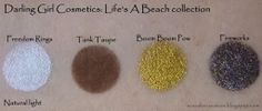 Scarabs Creation: Darling Girl Cosmetics: Life's A Beach Swatches and Look