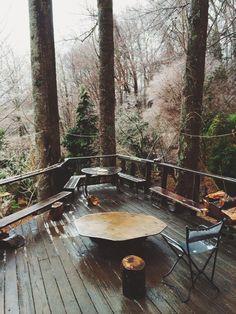 Mountain lodge patio inspiration, via mollysteele   VSCO Grid