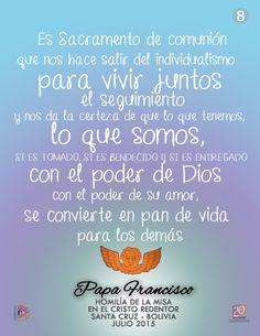 #papa #Francisco #Mensaje #Homilia #SantaCruz #Bolivia #Dios #PandeVida