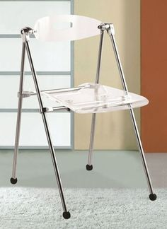 Transparent Folding Chairs, Set of 2 contemporary-chairs