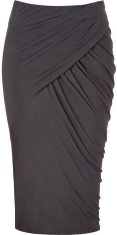Soft Dramatic skirt   Moon Ethereal   Donna Karan Shadow twisted drape skirt