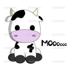 cow cartoon   Cute cow cartoon — Stock Vector © PiXXart #18973499