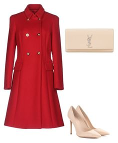 """Untitled #114"" by szevaj on Polyvore featuring Versace, Gianvito Rossi and Yves Saint Laurent"