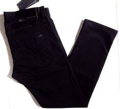 Armani Exchange men's slim fit yarn dye black jeans size 34x32 NEW on SALE #AXArmaniExchange #slimfitskinny