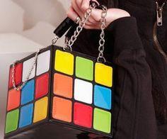 Shoespie Color Magic Cube Shaped Handbag | spenditonthis.com