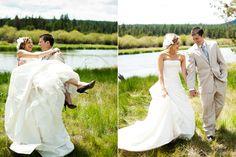 Gorgeous Oregon wedding backdrop at Sunriver Resort