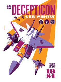 """""""Decepticon Air Show"""" Transformers Print by Tom Whalen"""
