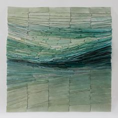 Jeanne Opgenhaffen uses thousands of colored porcelain tiles in different shades to create wall sculptures that mimic landscapes and other organic patterns. Wall Sculptures, Sculpture Art, Ceramic Wall Art, Muse Art, Wall Installation, Textile Artists, Ceramic Artists, Museum Of Fine Arts, Textures Patterns
