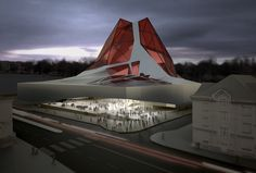 Proposal For The New National Library Of The Czech Republic, by Tom Wiscombe