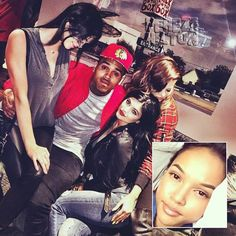Chris Brown Confirms His Singleness At Cali Christmas & Poses With Kendall Jenner On His Lap!