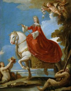 """Maria Anna of Neuburg, Queen of Spain"" by Luca Giordano (1693-1694)"