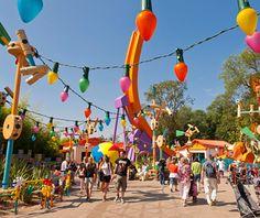 World's Most-Visited Theme Parks: Walt Disney Studios Park, Disneyland Paris.  This is Toy Story Playland.