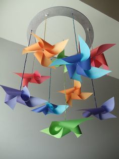 pinwheel mobile (I want this) from Southern Pearl Designs on @Etsy!